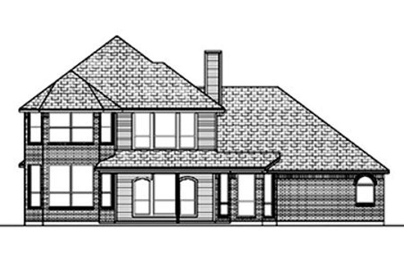 European Exterior - Rear Elevation Plan #84-391 - Houseplans.com