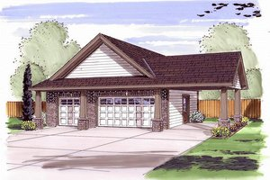 Traditional Exterior - Front Elevation Plan #455-39