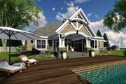 Craftsman Style House Plan - 4 Beds 3 Baths 2370 Sq/Ft Plan #51-570 Exterior - Rear Elevation