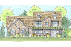 Traditional Exterior - Front Elevation Plan #455-1
