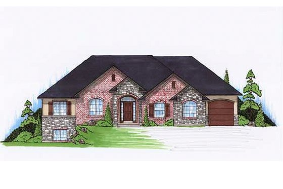Traditional Exterior - Front Elevation Plan #5-246