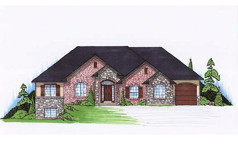 Traditional Style House Plan - 5 Beds 3.5 Baths 1821 Sq/Ft Plan #5-246 Exterior - Front Elevation