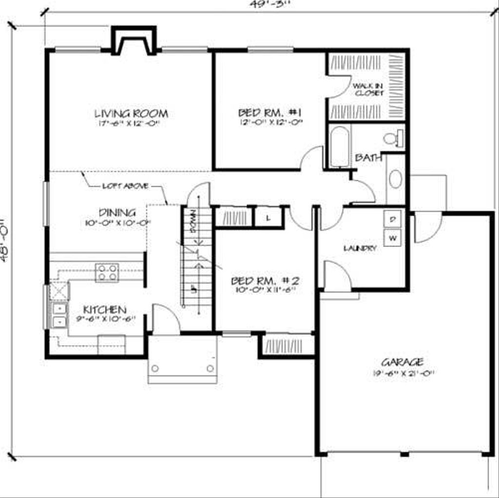 Traditional style house plan 2 beds 2 baths 1765 sq ft for 320 sq ft