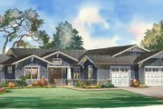 Traditional Style House Plan - 4 Beds 3.5 Baths 3861 Sq/Ft Plan #490-18 Exterior - Front Elevation