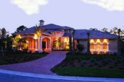 Mediterranean Style House Plan - 4 Beds 5 Baths 5042 Sq/Ft Plan #115-111 Exterior - Front Elevation