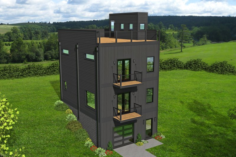 Contemporary Exterior - Front Elevation Plan #932-292