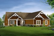 Craftsman Style House Plan - 3 Beds 2.5 Baths 2188 Sq/Ft Plan #1057-10 Exterior - Front Elevation