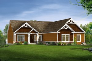 Architectural House Design - Craftsman Exterior - Front Elevation Plan #1057-10