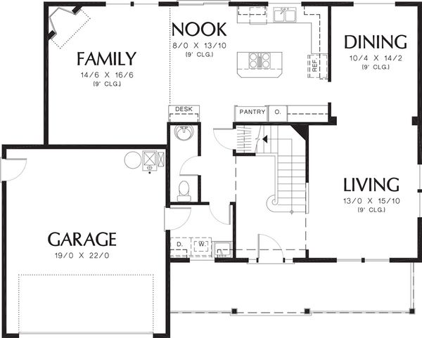 Traditional Floor Plan - Main Floor Plan Plan #48-330