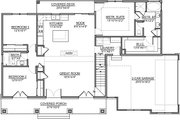 Craftsman Style House Plan - 3 Beds 2 Baths 1582 Sq/Ft Plan #1073-13 Floor Plan - Main Floor