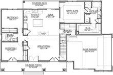 Craftsman Floor Plan - Main Floor Plan Plan #1073-13