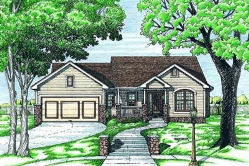 Traditional Exterior - Front Elevation Plan #20-414