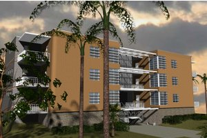 Modern Exterior - Front Elevation Plan #535-15