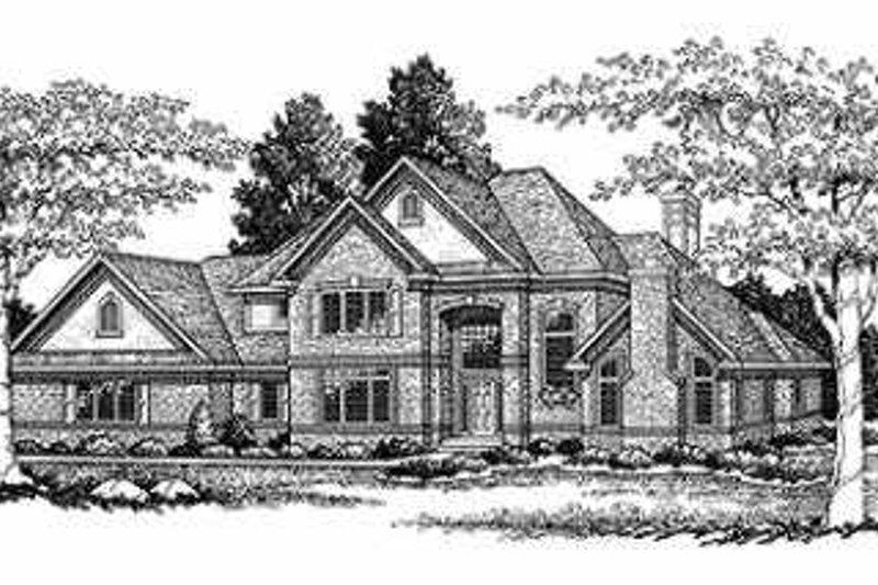 Dream House Plan - European Exterior - Front Elevation Plan #70-485
