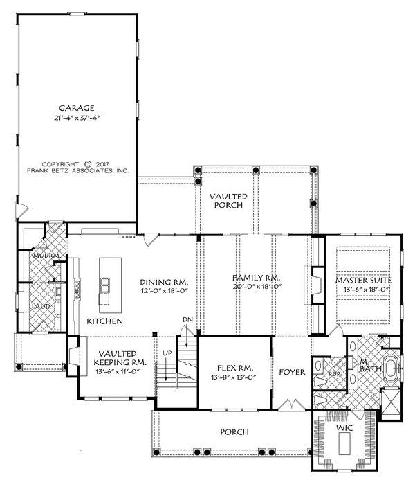 Traditional Floor Plan - Main Floor Plan #927-43