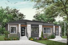 Dream House Plan - Contemporary Exterior - Front Elevation Plan #23-2720