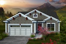 Home Plan Design - Traditional Exterior - Front Elevation Plan #70-1110