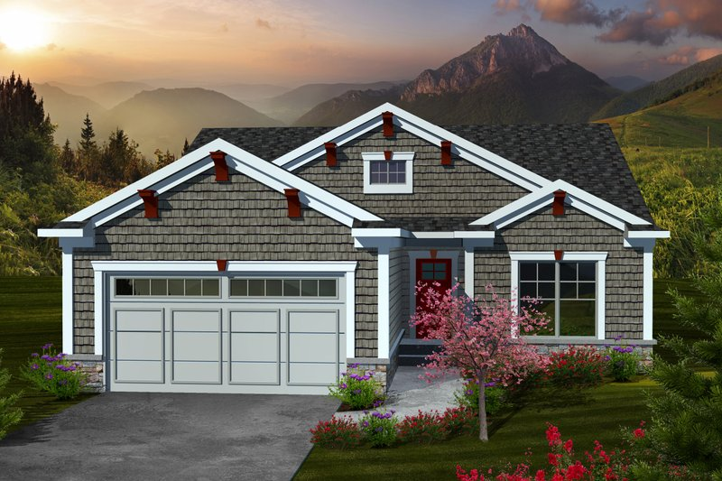 Traditional Exterior - Front Elevation Plan #70-1110 - Houseplans.com