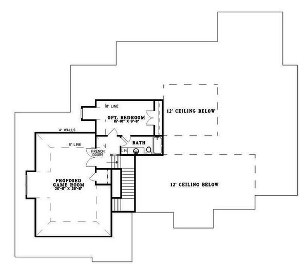 Traditional Floor Plan - Upper Floor Plan Plan #17-2514