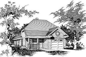 Traditional Exterior - Front Elevation Plan #329-155