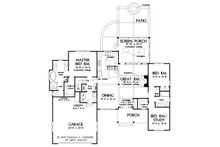 Ranch Floor Plan - Main Floor Plan Plan #929-1109