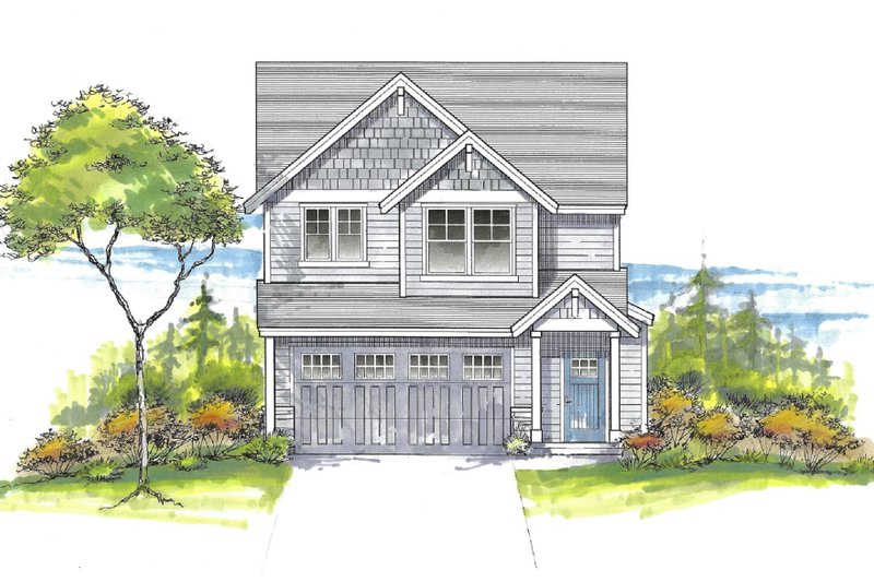 House Plan Design - Craftsman Exterior - Front Elevation Plan #53-660