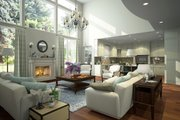 Contemporary Style House Plan - 4 Beds 4.5 Baths 3887 Sq/Ft Plan #1066-12 Interior - Family Room