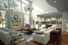 Home Plan - Contemporary Interior - Family Room Plan #1066-12