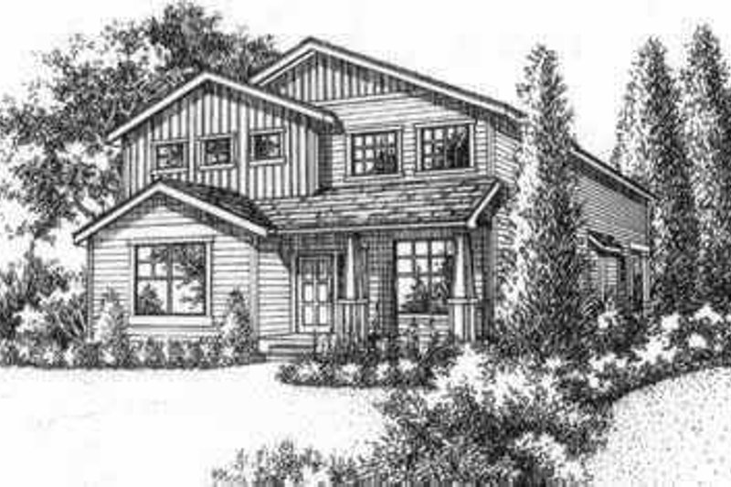 Traditional Style House Plan - 4 Beds 2.5 Baths 1972 Sq/Ft Plan #78-124