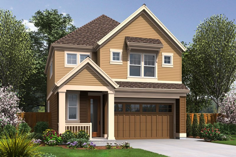Craftsman Style House Plan - 3 Beds 2.5 Baths 1851 Sq/Ft Plan #48-631