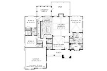 European Floor Plan - Main Floor Plan Plan #927-15