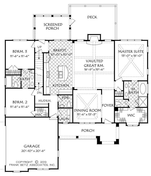European Floor Plan - Main Floor Plan Plan #927-15