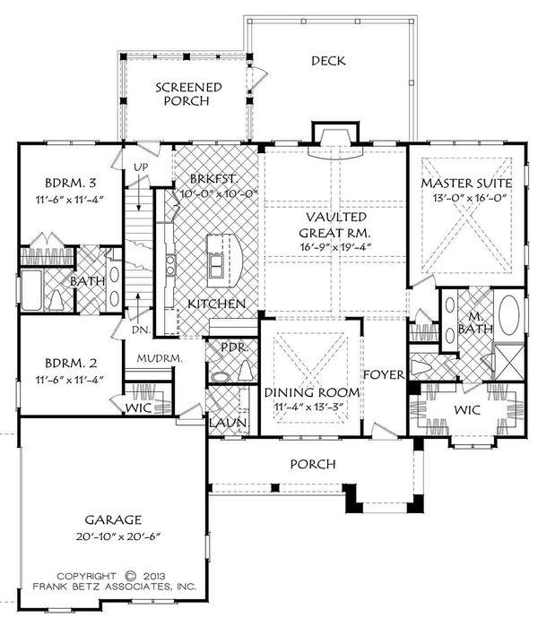 Architectural House Design - European Floor Plan - Main Floor Plan #927-15