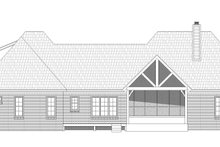 Home Plan - Country Exterior - Rear Elevation Plan #932-125