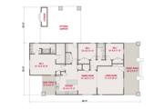 Craftsman Style House Plan - 3 Beds 2 Baths 1664 Sq/Ft Plan #461-57 Floor Plan - Main Floor Plan