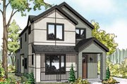 Contemporary Style House Plan - 3 Beds 2.5 Baths 1688 Sq/Ft Plan #124-1129 Exterior - Front Elevation