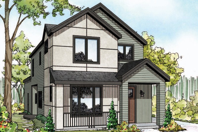 Architectural House Design - Contemporary Exterior - Front Elevation Plan #124-1129