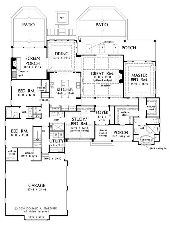 Country Floor Plan - Main Floor Plan Plan #929-1026
