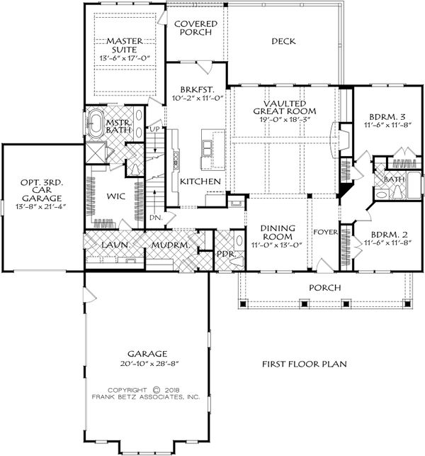 Farmhouse Floor Plan - Main Floor Plan Plan #927-994