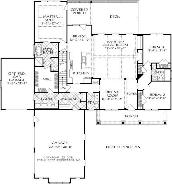 Farmhouse Floor Plan - Main Floor Plan Plan #927-994