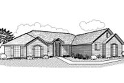 Traditional Style House Plan - 3 Beds 3 Baths 1958 Sq/Ft Plan #65-479 Exterior - Front Elevation