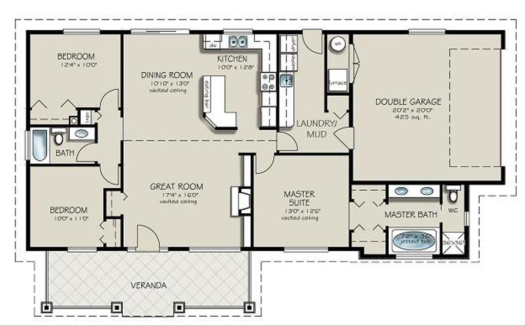 Ranch Style House Plan 3 Beds 2 Baths 1493 Sq Ft Plan 427 4 Houseplans Com
