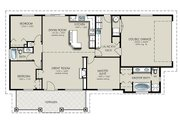 Ranch Style House Plan - 3 Beds 2 Baths 1493 Sq/Ft Plan #427-4 Floor Plan - Main Floor Plan