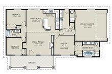 Ranch Floor Plan - Main Floor Plan Plan #427-4