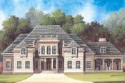 European Style House Plan - 4 Beds 4 Baths 5101 Sq/Ft Plan #119-199 Exterior - Front Elevation