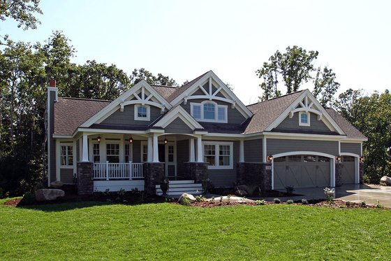 Craftsman Exterior - Front Elevation Plan #132-231