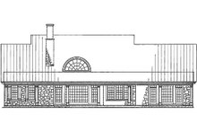 Country Exterior - Rear Elevation Plan #137-279