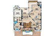 Mediterranean Style House Plan - 4 Beds 5.5 Baths 4926 Sq/Ft Plan #27-433 Floor Plan - Main Floor Plan