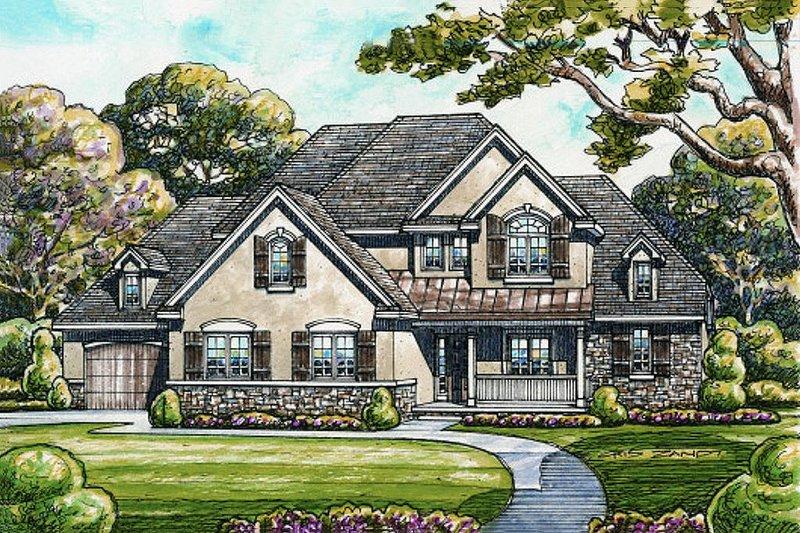 Craftsman style, European designed, elevation