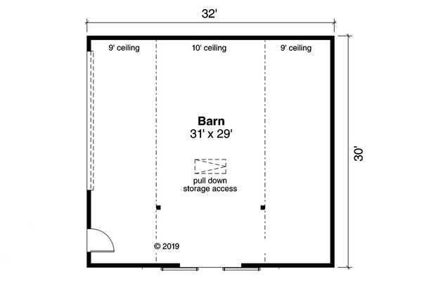 Country Floor Plan - Main Floor Plan Plan #124-1176